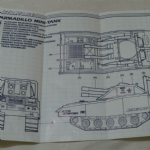 Action Force Cobra mini tank Armadillo instructions blue prints 1986